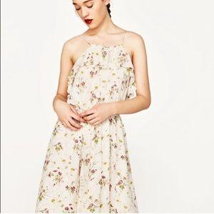 Zara Dresses - Zara Stunning Sequin Floral Ruffle Flounce Dress
